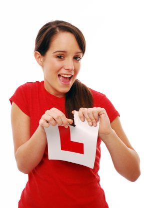 Girl rips L plate